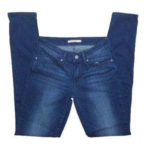 Levi's 711 Dark Wash Stretchy Skinny Ankle Jeans